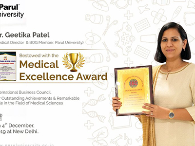 Medical Excellence Award by International Business Council - 2019
